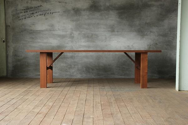 テーブル正面の画像
