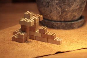 木のブロックの画像