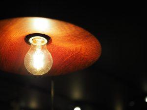 一枚板の照明