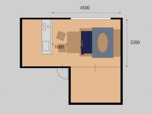 家具のレイアウト