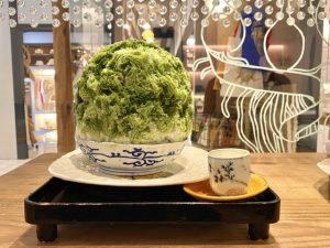名古屋 河合 かき氷 抹茶